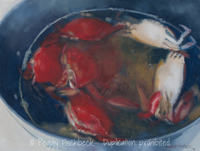 Crab Pot, 9x12, oil panel  00238 - SOLD