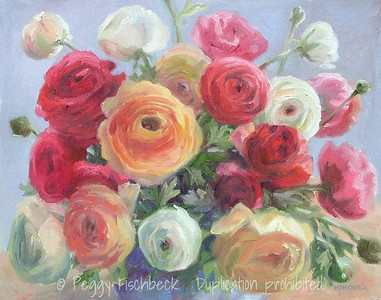 Ranunculus IV  11x14  oil on canvas SOLD