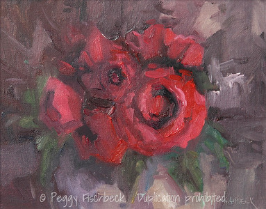Red Roses, 8x10, oil panel - SOLD
