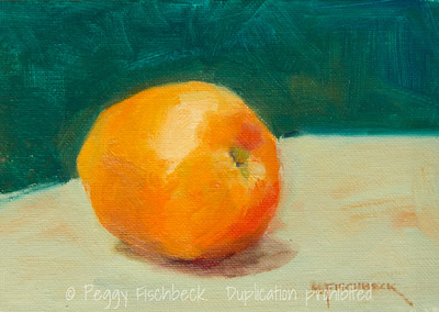 An Apple a Day, 5x7, oil on panel -SOLD
