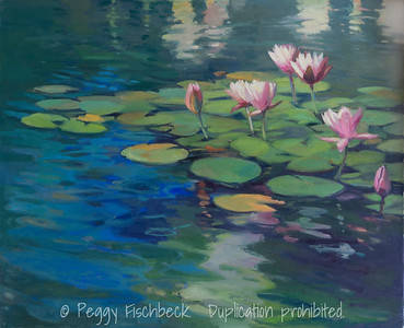 Waterlilies, 24x30, oil on canvas -  SOLD