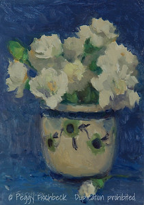 Carnations in a Bowl, 5x7, oil panel SOLD