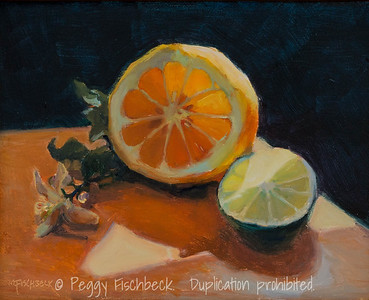 Lemon and Lime, 8x10, oil  - SOLD