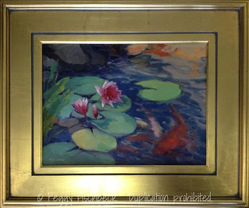 Waterlilies and Koi, 12x16, oil  SOLD