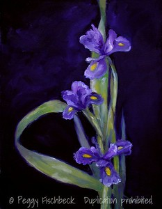 Purple Iris  SOLD14x18  oil on canvas SOLD