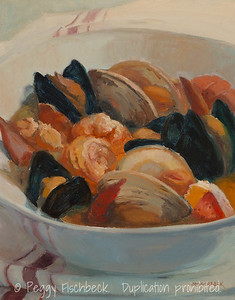 Bouillabaisse, 11x14, oil panel  SOLD  F0538