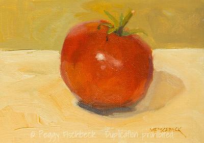 Tomato, 5x7, oil on panel