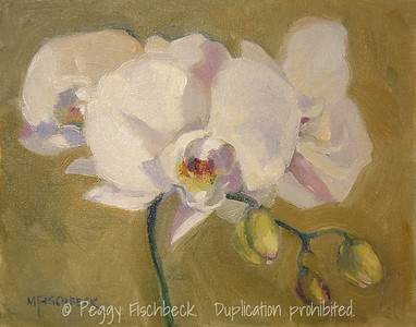 Orchids for Mandy, 8x10, Canvas panel  SOLD