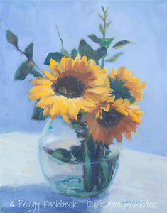 Sunflowers, 11x14, oil - SOLD