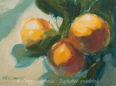 5x7, Fresh Fruit - oil panel  H0678  SOLD