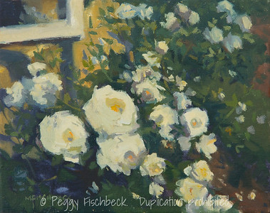 Rose Garden, 8x10, oil on canvas -  SOLD