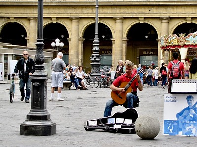 Street Musician Florence Italy
