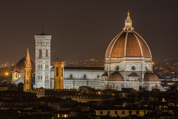 Il Duomo at night, Florence, Italy