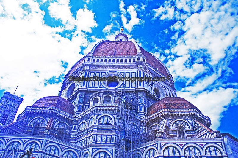 The Dome is referred to as Brunelleschi's masterpiece took fourteen years to plan and raise between 1420 and 1434. This according to some sources is really where the Renassiance began.