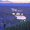 The river Arno runs under several of Florence's bridges including the Porta Vecchio,  the Medieval bridge.