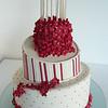 Cakes inclinada, flores de azúcar para un lindo festejo.