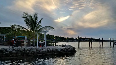 It can be difficult to find a good spot to view the sunset on the Upper Keys, for there's often land in the way. Marker 88 restaurant does have one of the best vantage points.