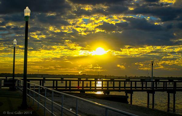 Golden Harbor Dawn