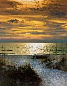 ' Gulf Sunset ' Sarasota. FL  Matted 16 x 20 on Luster Photo paper (12 mil)