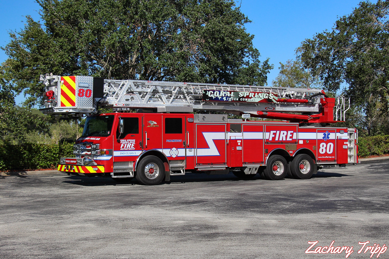 Coral Springs-Parkland Fire Department Truck 80