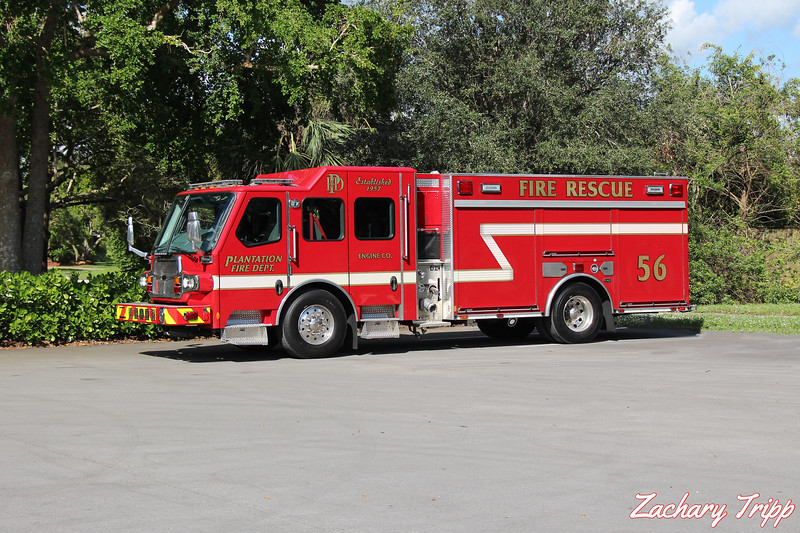 Plantation Fire Department Engine 56