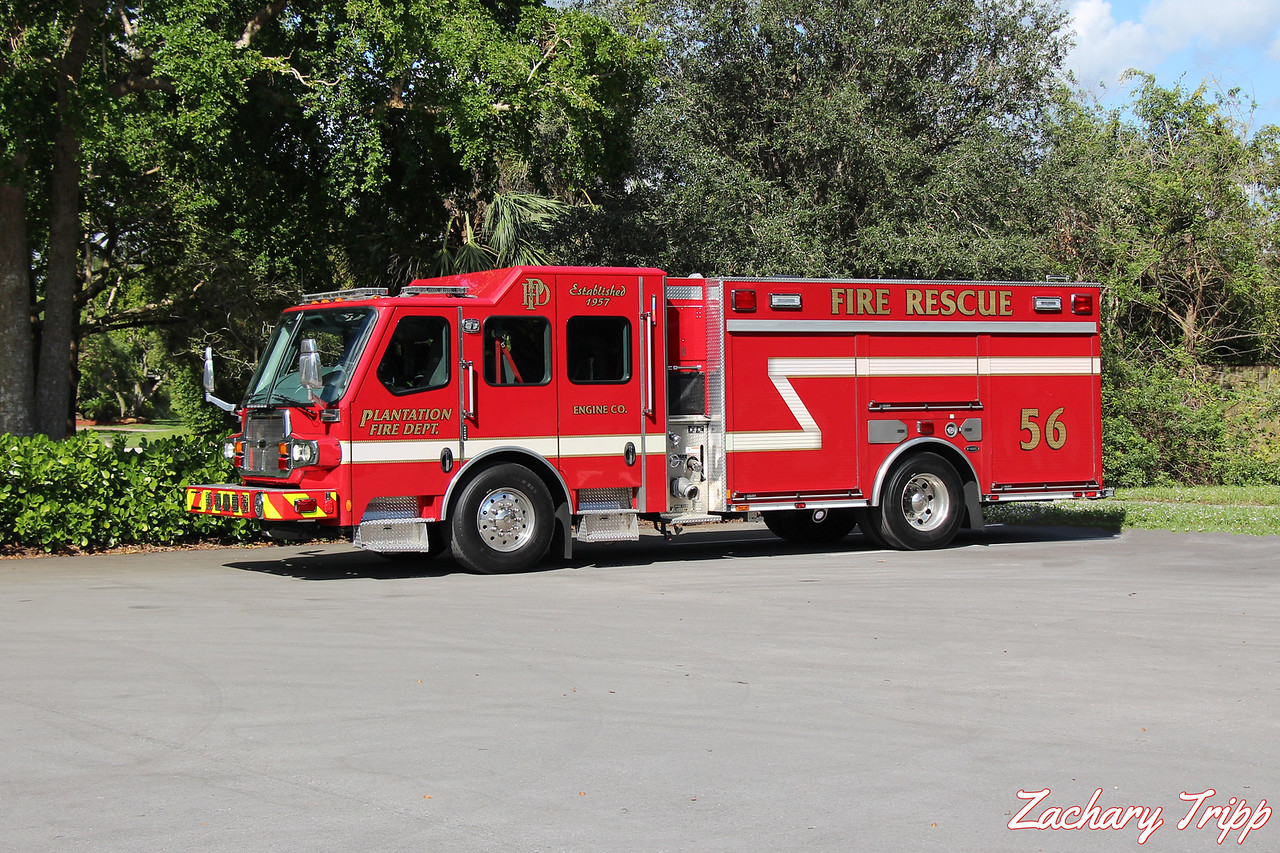 Plantation Fire Department Engine 56