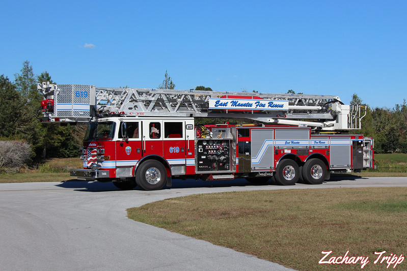 East Manatee Fire Rescue Ladder 619