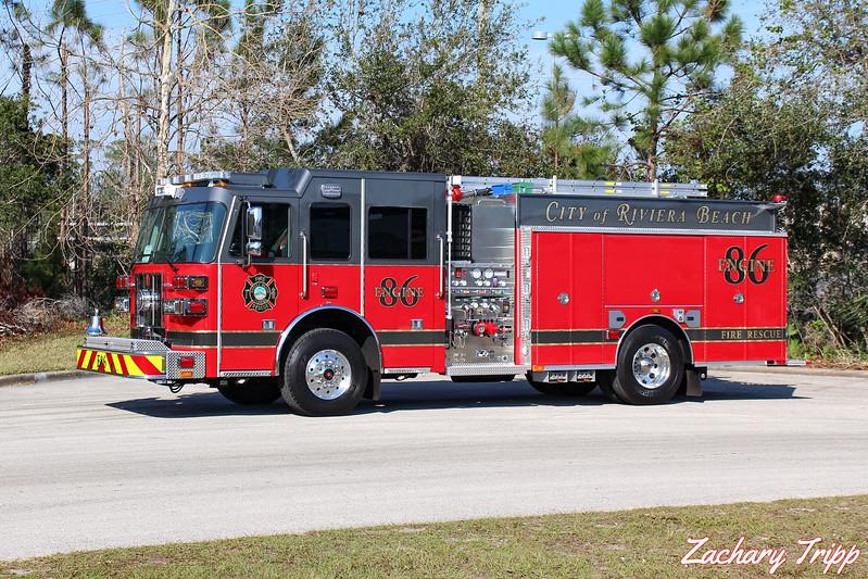 Riviera Beach Fire Rescue Engine 86