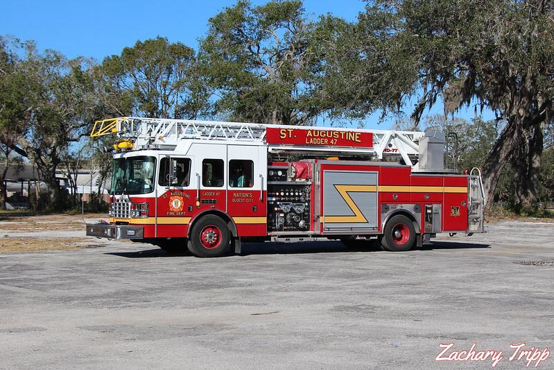 St. Augustine Fire Department Ladder 47