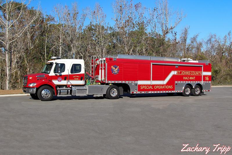 St. Johns County Fire Rescue Hazmat 16