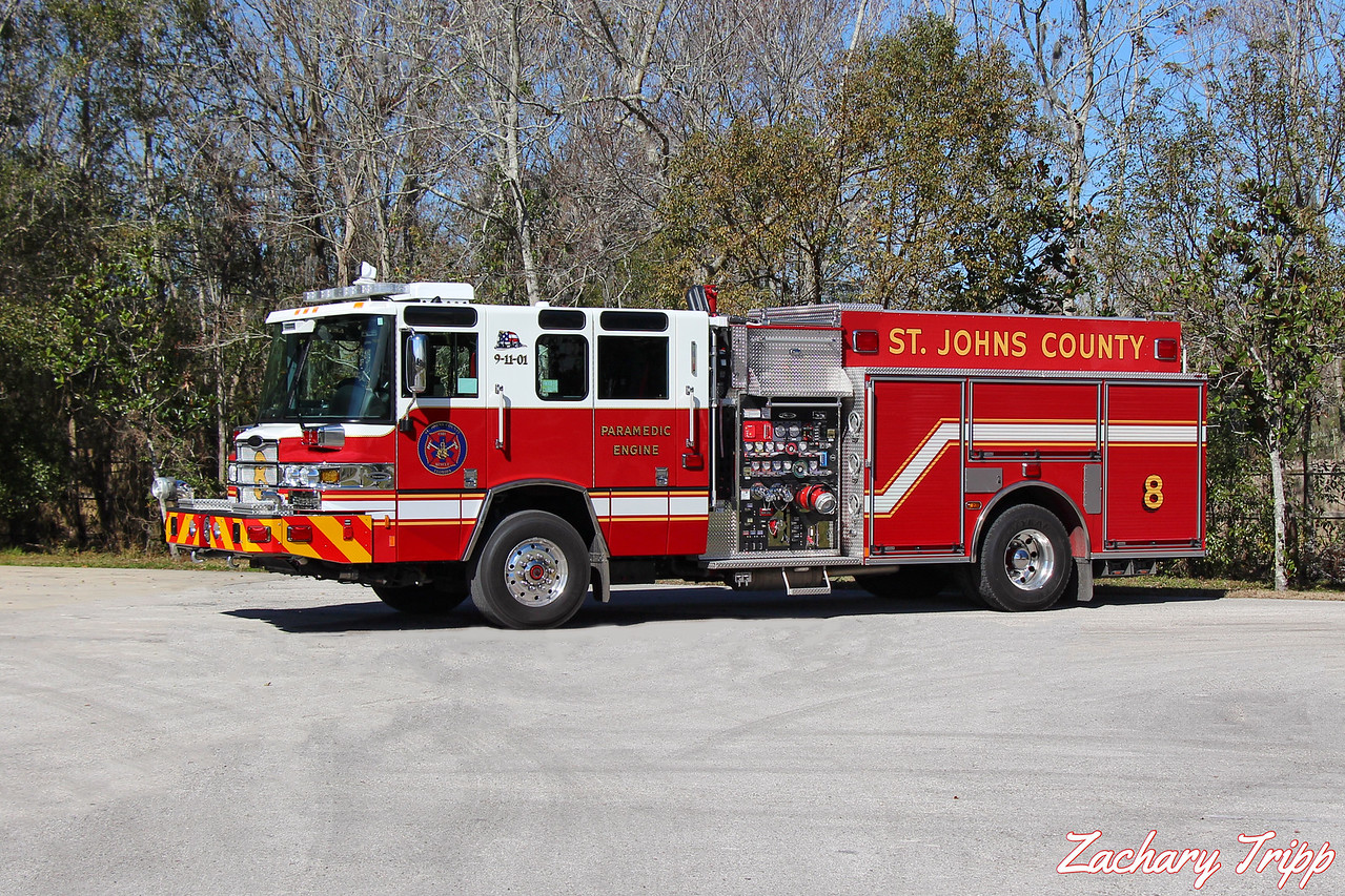 St. Johns County Fire Rescue Engine 8