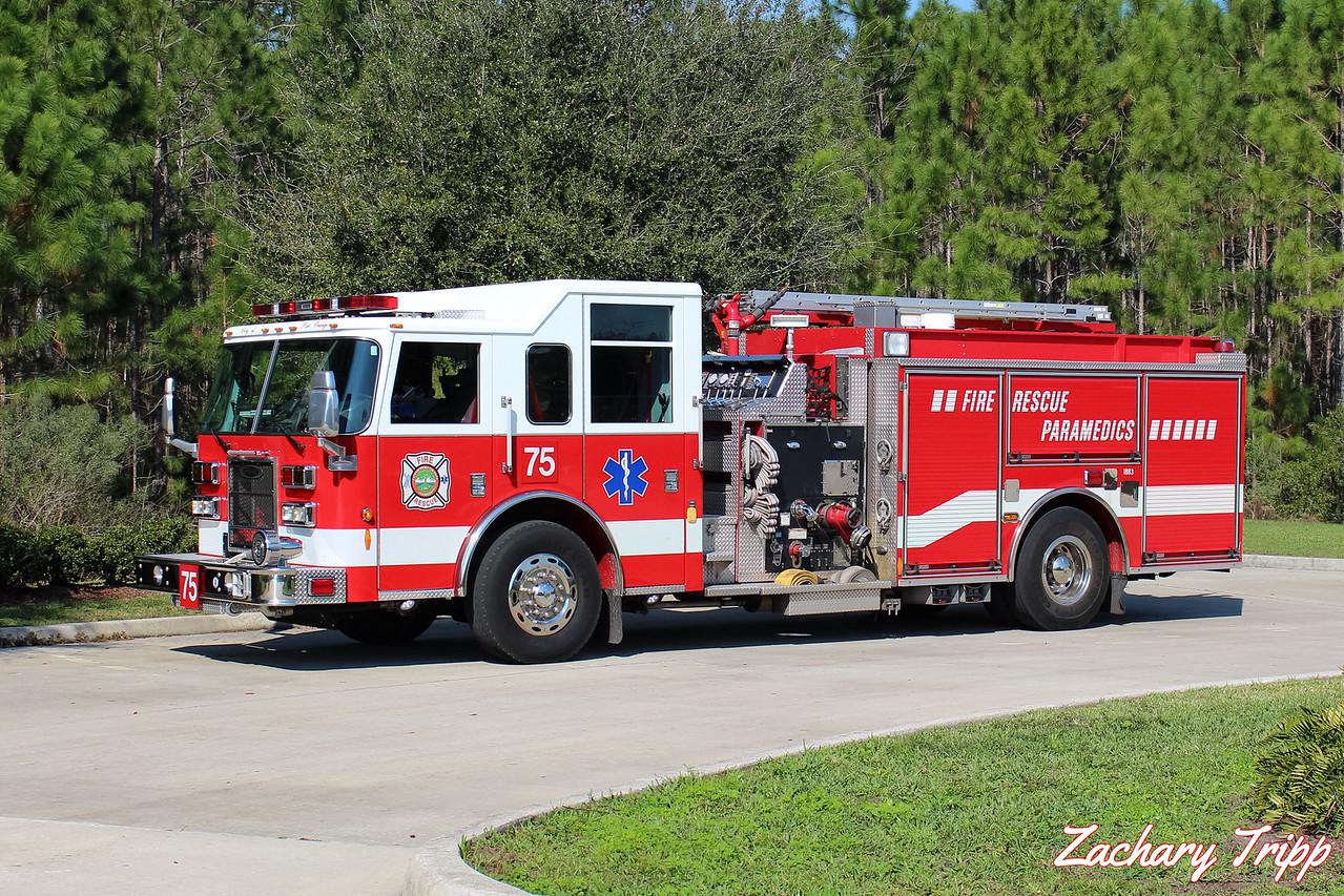 Port Orange Fire Recue Engine 75