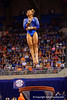 Florida Gators gymnast Kytra Hunter performs her vault routineand scores a 9.975.  Florida Gators Gymnastics vs Georgia Bulldogs.  January 30th, 2015. Gator Country photo by David Bowie.