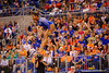 Florida Gators gymnast Kennedy Baker performs her routine during the floor exercise scoring a 9.975, the highest ever for a Gator freshman.  Florida Gators Gymnastics vs Georgia Bulldogs.  January 30th, 2015. Gator Country photo by David Bowie.