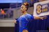 Florida Gators gymnast Kytra Hunter practices on the balance beam.  Florida Gators Gymnastics vs Georgia Bulldogs.  January 30th, 2015. Gator Country photo by David Bowie.