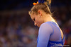 Florida Gators gymnast Bridgette Caquatto prepares to perform her routine during the floor exercise.  Florida Gators Gymnastics vs Georgia Bulldogs.  January 30th, 2015. Gator Country photo by David Bowie.
