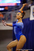 Florida Gators gymnast Kytra Hunter performs on the balance beam.  Florida Gators Gymnastics vs Georgia Bulldogs.  January 30th, 2015. Gator Country photo by David Bowie.