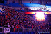 Gator fans cheer on the Gators as they are announced.  Florida Gators Gymnastics vs Georgia Bulldogs.  January 30th, 2015. Gator Country photo by David Bowie.