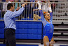 Florida Gators gymnast Kytra Hunter celebrates after her performance on the uneven bars.  Florida Gators Gymnastics vs Georgia Bulldogs.  January 30th, 2015. Gator Country photo by David Bowie.