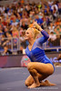 Florida Gators gymnast Rachel Spicer performs her routine during the floor exercise.  Florida Gators Gymnastics vs Georgia Bulldogs.  January 30th, 2015. Gator Country photo by David Bowie.