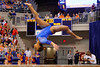 Florida Gators gymnast Kennedy Baker performs on the balance beam.  Florida Gators Gymnastics vs Georgia Bulldogs.  January 30th, 2015. Gator Country photo by David Bowie.