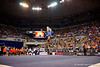 Florida Gators gymnast Kytra Hunter performs her routine during the floor exercise scoring a 9.975.  Florida Gators Gymnastics vs Georgia Bulldogs.  January 30th, 2015. Gator Country photo by David Bowie.