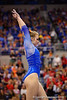 Florida Gators gymnast Claire Boyce practices on the balance beam.  Florida Gators Gymnastics vs Georgia Bulldogs.  January 30th, 2015. Gator Country photo by David Bowie.