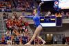 Florida Gators gymnast Ericha Fassbender performs on the balance beam.  Florida Gators Gymnastics vs Georgia Bulldogs.  January 30th, 2015. Gator Country photo by David Bowie.