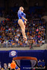 Florida Gators gymnast Alex McMurtry performs her vault routine.  Florida Gators Gymnastics vs Georgia Bulldogs.  January 30th, 2015. Gator Country photo by David Bowie.