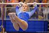Florida Gators gymnast Claire Boyce performs her uneven bars routine.  Florida Gators Gymnastics vs Georgia Bulldogs.  January 30th, 2015. Gator Country photo by David Bowie.