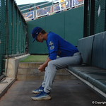 Florida Gators pitcher Brady Singer prepares for game one of the College World Series vs. LSU.
