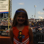 Florida Gators coach Kevin O'Sullivan's daughter before game one of the College World Series finals.