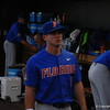 Deacon Liput warming up before the Florida Gators game against the Louisville Cardinals at the 2017 College World Series.
