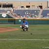 Dalton Guthrie warming up before the Florida Gators game against the Louisville Cardinals at the 2017 College World Series.